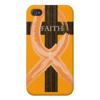 Cancer Survivor Ribbon on a Cross iPhone 4/4S Cases
