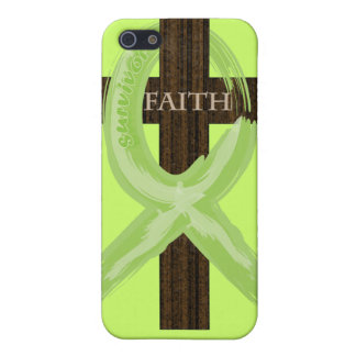 Cancer Survivor Ribbon on a Cross Cover For iPhone 5
