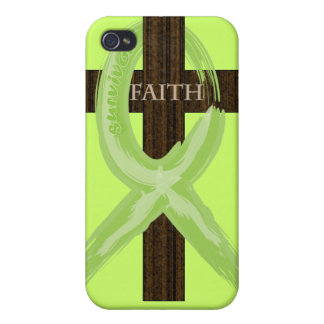 Cancer Survivor Ribbon on a Cross Case For iPhone 4