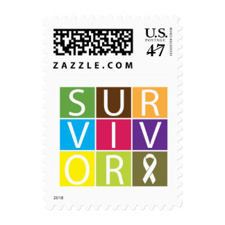Cancer Survivor Tile Bone Cancer Postage