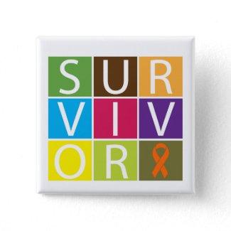 Cancer Survivor Tile Leukemia button