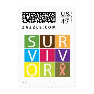 Cancer Survivor Tile Uterine Cancer Stamp