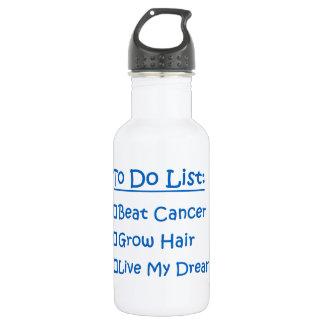 Cancer Survivor To Do List 18oz Water Bottle