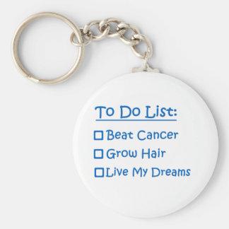 Cancer Survivor To Do List Basic Round Button Keychain