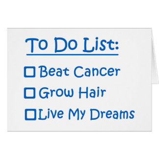 Cancer Survivor To Do List Card