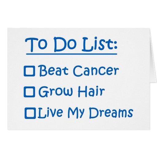 Cancer Survivor To Do List Cards