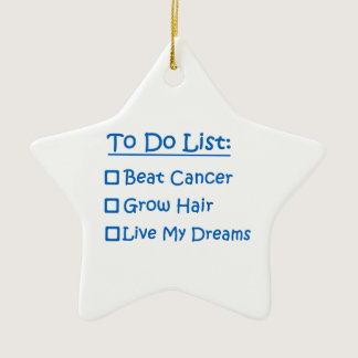 Cancer Survivor To Do List Ceramic Ornament