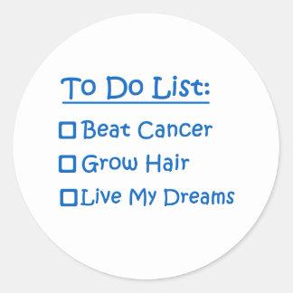 Cancer Survivor To Do List Classic Round Sticker