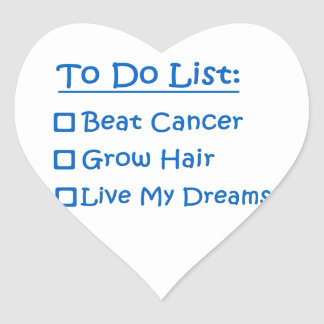 Cancer Survivor To Do List Heart Sticker