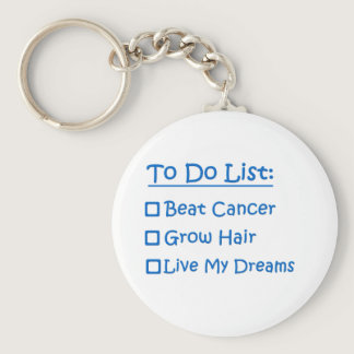 Cancer Survivor To Do List Keychain