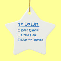 Cancer Survivor To Do List Double-Sided Star Ceramic Christmas Ornament