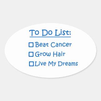 Cancer Survivor To Do List Oval Sticker