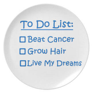 Cancer Survivor To Do List Party Plate