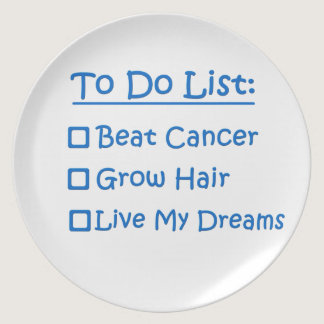 Cancer Survivor To Do List Plate