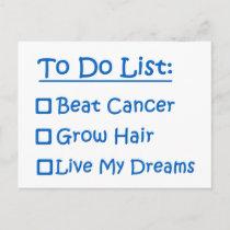 Cancer Survivor To Do List Postcard