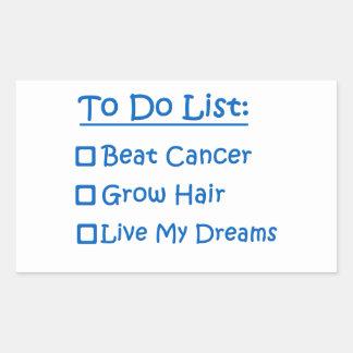 Cancer Survivor To Do List Rectangular Sticker