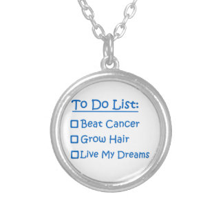 Cancer Survivor To Do List Round Pendant Necklace
