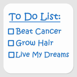 Cancer Survivor To Do List Square Sticker