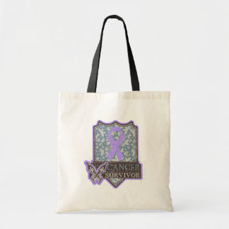 Cancer Survivor Vintage Butterfly Canvas Bags