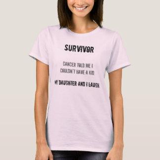 Cancer Survivor w/daughter (baby doll) T-Shirt
