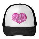 Cancer Survivor WORDHEART DESIGNS Trucker Hat