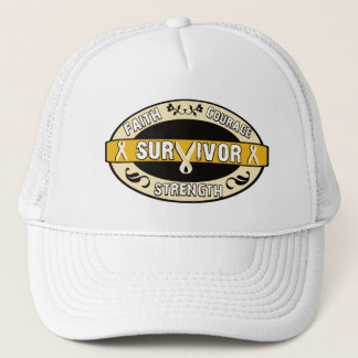 Cancer Survivor Yellow Gold Trucker Hat