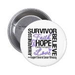 Cancer Survivors Motto Pinback Button