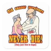 Cancer Survivors Square Sticker
