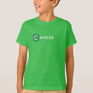 CANCER T SHIRT for Kids - Zodiac Color Green Tee