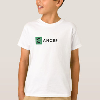 CANCER T SHIRT for Kids - Zodiac Color White Tee