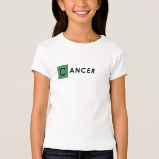 CANCER T SHIRT - Girls' Zodiac Color White Tee
