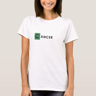 CANCER T SHIRT - Woman's Zodiac Color White Tee