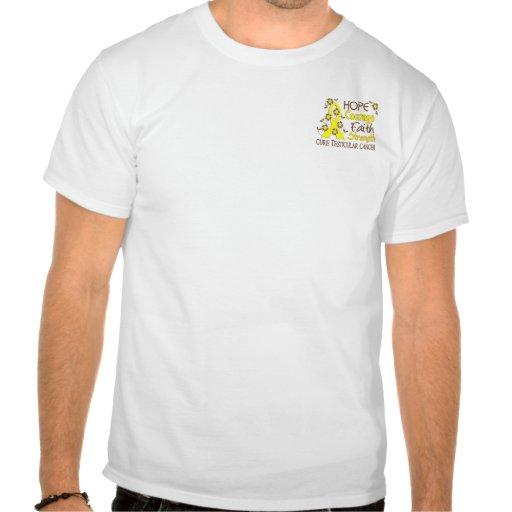 Cáncer testicular de la fuerza 3 de la fe del valo camiseta