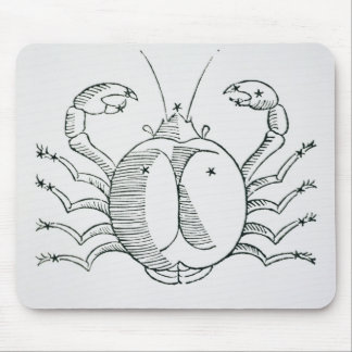 Cancer (the Crab) an illustration from the 'Poetic Mouse Pad