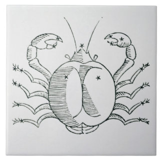 Cancer (the Crab) an illustration from the 'Poetic Tile