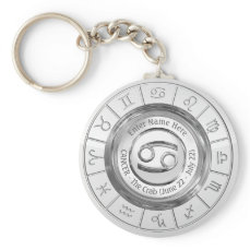 Cancer - The Crab Astrological Sign Keychain