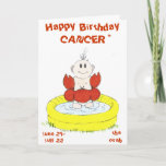CANCER the crab birthday card by Zodibabies.