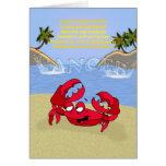 Cancer the crab, birthday card, cancerian greeting card