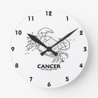 Cancer The Crab (June 21st - July 22nd) Round Clock