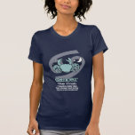 Cancer the crab zodiac astrology dark blue t-shirt