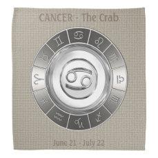 Cancer - The Crab Zodiac Sign Bandana