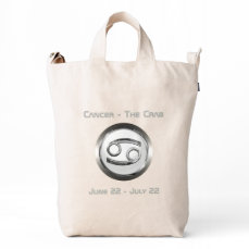 Cancer - The Crab Zodiac Sign Duck Bag