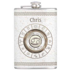 Cancer - The Crab Zodiac Sign Flask