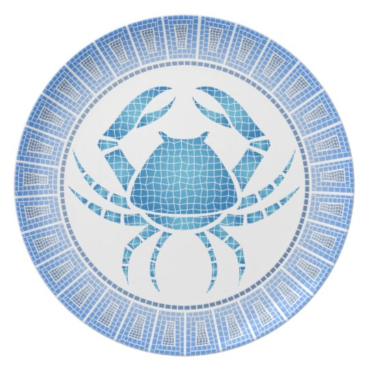 Cancer the Crab Zodiac Sign Plate