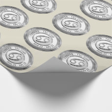 Cancer - The Crab Zodiac Sign Wrapping Paper