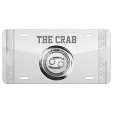Cancer - The Crab Zodiac Symbol License Plate