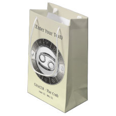 Cancer - The Crab's Horoscope Symbol Small Gift Bag
