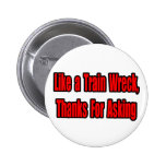 Cancer Train Wreck Pinback Buttons