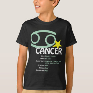 Cancer Traits Kids Dark T-Shirt