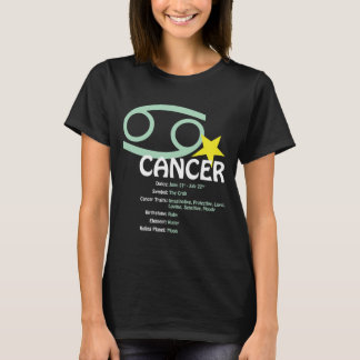 Cancer Traits Ladies Dark T-Shirt
